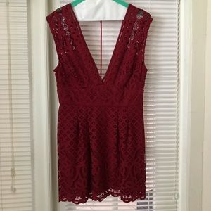 Free People Red Mini dress